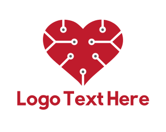Wearable - Tech Love logo design