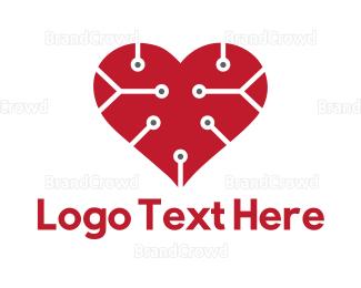 Computing - Tech Love logo design