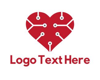 Cardiologist - Tech Love logo design
