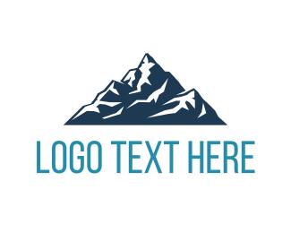 Ski - Big Blue Mountain logo design