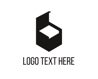 Interior Design - Black Furniture logo design