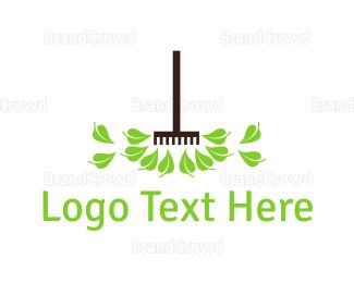 Garden - Gardening Rake logo design