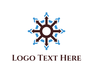 Sail - Ship Wheel logo design