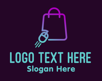 Gift Shop - Online Shopping Bag logo design