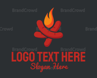 Barbecue - Sausage Barbecue logo design