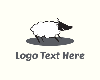Livestock - Happy White Sheep  logo design