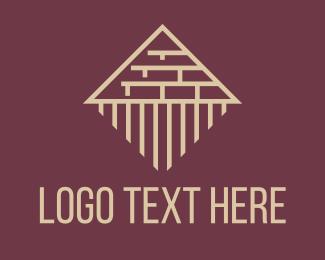 Brick - Pyramid Brick Construction logo design
