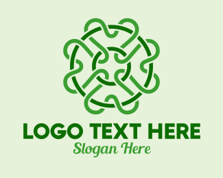 Saint Patrick - Green Clover Scribble logo design
