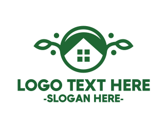 Green Vegan House Logo