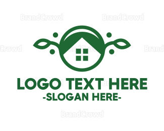 Gardener - Vegan House logo design