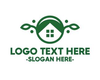 Vegan - Green Vegan House logo design