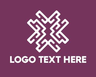 Casino - Purple Maze logo design