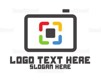 Pictorial - Tech Box Camera logo design
