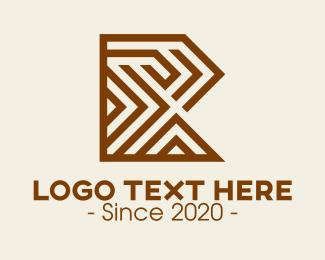 Home Furnishing - Wooden Letter R logo design