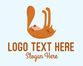 Playful - Playful Cat Letter U logo design