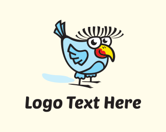 Pretty - Friendly Bird Cartoon logo design