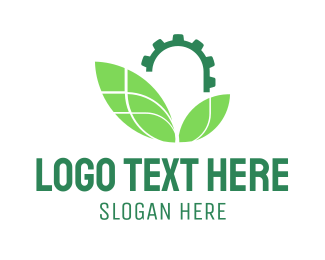Yellow Leaf - Industrial Leaves logo design
