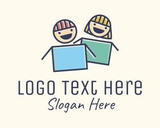 School - Children Daycare School logo design