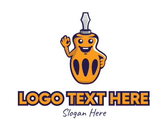 Repair Shop - Screwdriver Tool Mascot logo design
