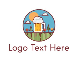 Brewer - Beer Garden logo design