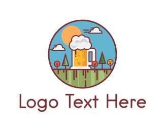 Brewer - Beer Garden logo design