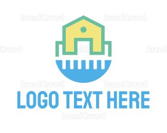 Sanitation - Clean House Water logo design