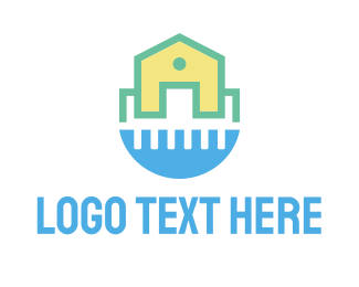 Cleaning - Clean House Water logo design