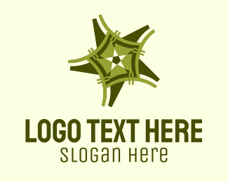Festive - Professional Green Star  logo design