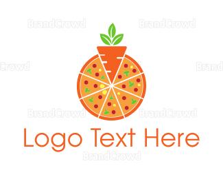 Eco-friendly -  Carrot Pizza logo design