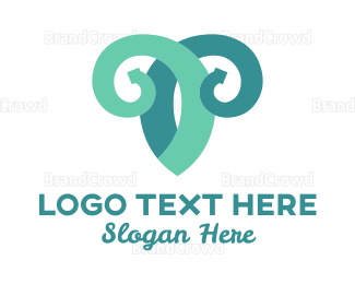 Sheep - Vine Goat logo design