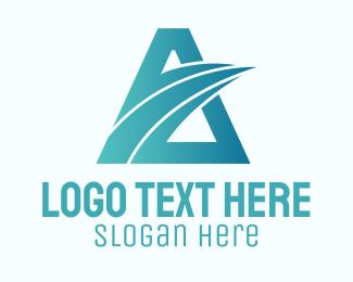 Transfer - Logistics Transfer Letter A  logo design