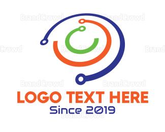 Multicolor - Multicolor Orbit Ring logo design
