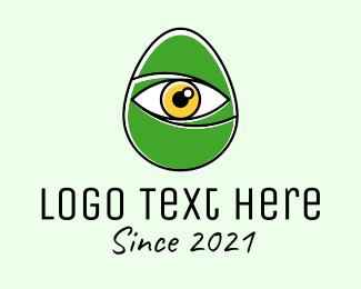 Optical - Optical Eye Egg logo design