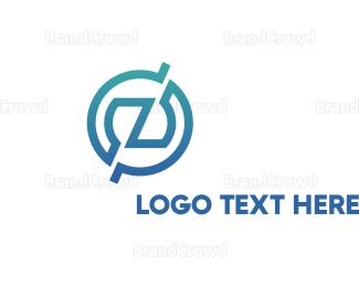 Lettermark Z - Gradient Mechanical Z logo design
