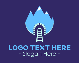 Train - Train Tunnel Mountain logo design