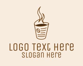 Morning - Morning News Coffee Cup logo design