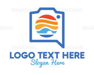 Electronics Boutique - Landscape Camera App logo design