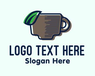 Tea - Tea Leaf Cup logo design