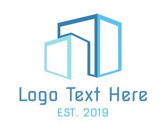 Stock - Blue Boxes logo design