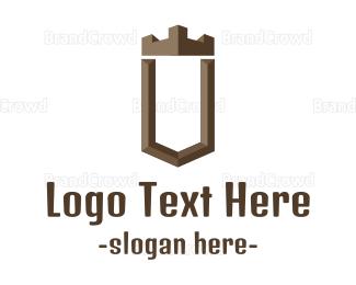 Build - Brown U Castle logo design