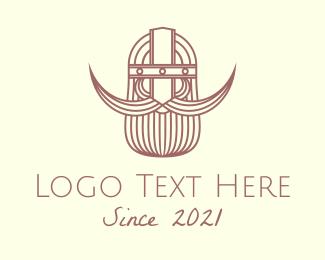 Viking - Minimalist Viking Warrior logo design