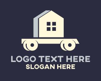 Moving - Moving House Wagon logo design