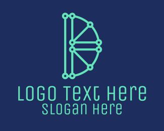 Digital Circuit - Digital Circuit Letter D logo design