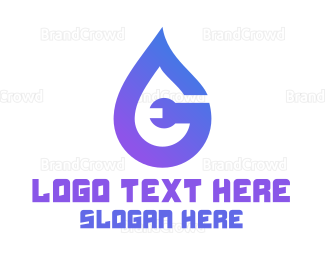 Liquid - Plumber Droplet logo design