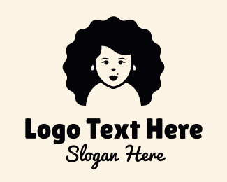 Big - Big Hair Girl logo design