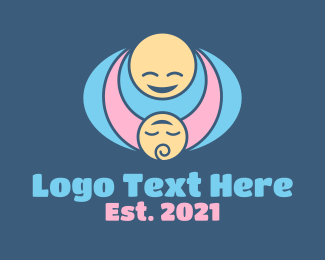 Child - Mother & Child Hug logo design