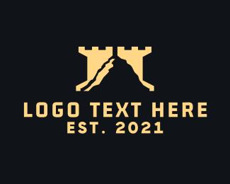 Rook - Mountain Tower logo design