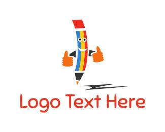 Draw - Happy Pencil logo design