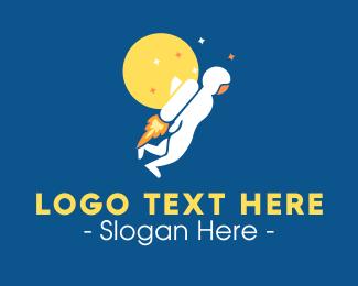Blast - Space Rocket Man logo design