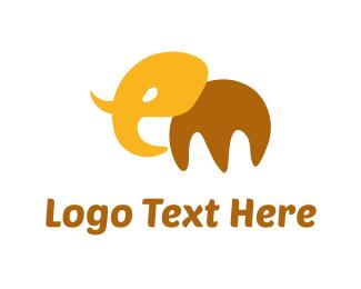 Tusk - Abstract Elephant logo design